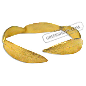 The Elaia Collection - Gold Plated Sterling Silver Bracelet - Olive Leaf