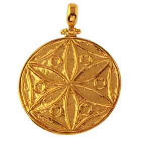 The Agamemnon Collection - 24K Gold Plated Sterling Silver Pendant - Rose