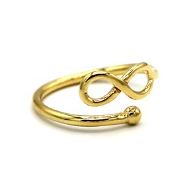 24k Gold Plated Sterling Silver Infinity Adjustable Ring