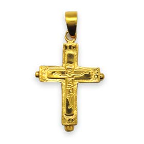 24k Gold Plated Sterling Silver Cross / Locket 32mm