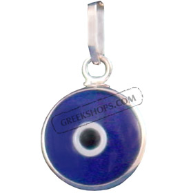 Greekshops greek products greek gold jewelry white gold code l21 white gold evil eye pendant 18k aloadofball Image collections