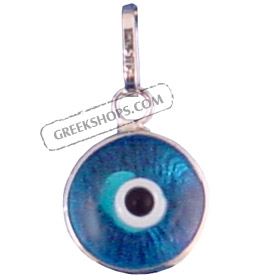 Greekshops greek products greek gold jewelry white gold white gold evil eye pendant 18k aloadofball Image collections
