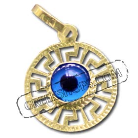 Greekshops greek products greek gold jewelry 14k gold evil 14k gold evil eye pendant style 362 aloadofball Choice Image