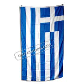 Indoor Greek Flag (3