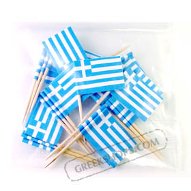 Greek Flag Party Toothpicks 20 pc.