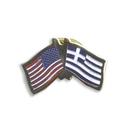 Greek-American Flag Lapel Pin