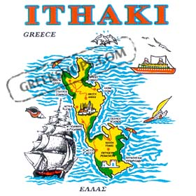 Greek Island Ithaki Sweatshirt D335A