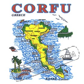 Greek Island Corfu Tshirt 324