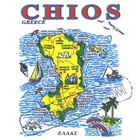 Greek Island Chios Tshirt 330