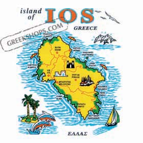 Greek Island Ios Tshirt D335A