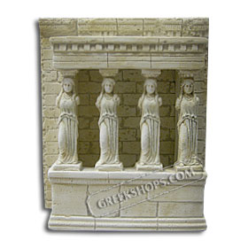 "Erechtheion and Caryatids Replica (8"") (Clearance 40% Off)"