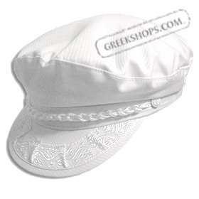 Greek Fisherman's Hat -Cotton - White