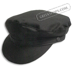 Greek Fiddler Fisherman Hat - Black Cotton