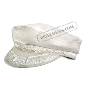 Wool Cream White (Ecru) Greek Fisherman Hat