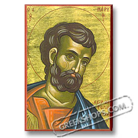 "St. Mark (5x7"") Hand-made Icon"