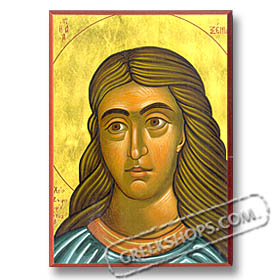 "St. Xenia (5x7"") Hand-made Icon"