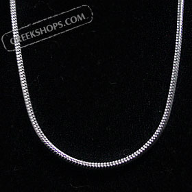 "Silver Snake Chain - 1mm diameter - 18"" length"