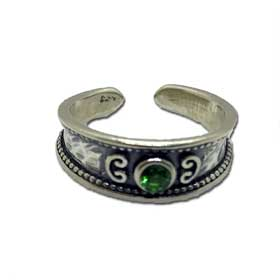 Mystras Byzantine Collection, Sterling Silver Floral Adjustable Ring
