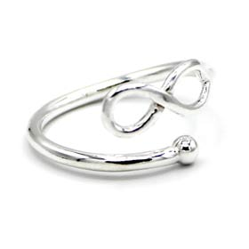 Sterling Silver Infinity Adjustable Ring