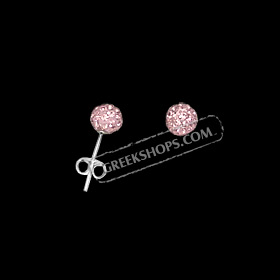 The Rio Collection - Swarovski Crystal Ball Post Earrings Pink (6mm)