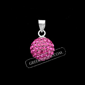 The Rio Collection - Swarovski Crystal Ball Pendant Magenta (10mm)