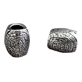 Pandora Compatible Sterling Silver Minoan Phaistos Disk Bead (12mm) - Fits all Charm Bracelets