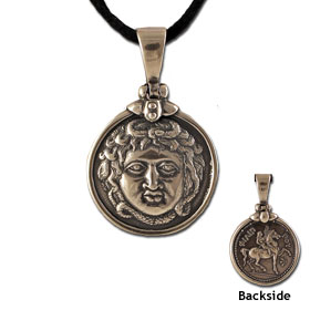 King Philip II Sterling Silver Pendant (26mm) w/ leather cord
