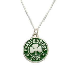 "Sterling Silver Panathinaikos Pendant w/ 20"" Chain"
