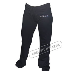 Koukla Swarovski Rhinestone Black Fleece Pants Special 30% Off