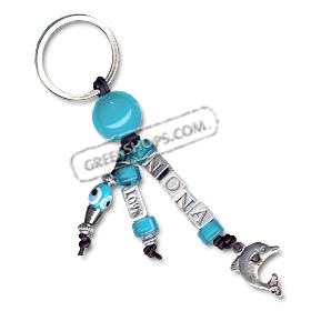 Evil Eye Goodluck Keychain - Nona for Godmother in Greek