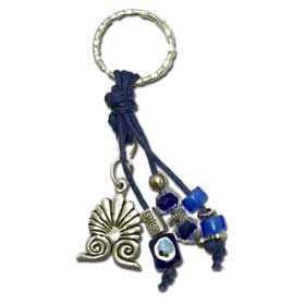 Akrokeramo & Good luck Charms Keychain - Dark Blue