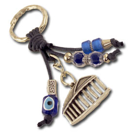 Parthenon (Acropolis) with Good luck charms Keychain
