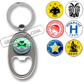 Greek Soccer Team Keychain / Bottle Opener