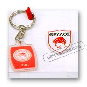 Greek Team Keychain & Pin Set - Olympiakos