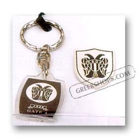 Greek Team Keychain & Pin Set - PAOK