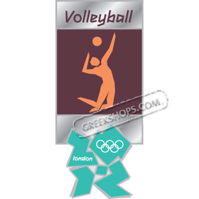 London 2012 Volleyball Pictogram Pin