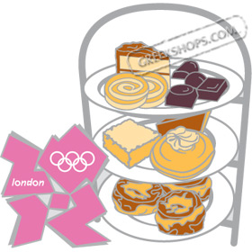London 2012 High Tea Tray Pin