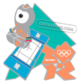 London 2012 Wenlock Trampoline Mascot Sports Pin