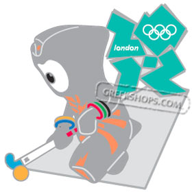 London 2012 Wenlock Hockey Mascot Sports Pin