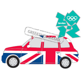 London 2012 Union Jack Taxi Pin