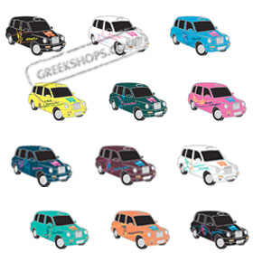 "London 2012 London Athletics Pictogram Taxis Oversized Replicas 1-1/2"" 12-Pin Set"