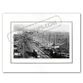 Vintage Greek City Photos Macedonia - Salonica, Waterfront - Leoforos Nikis - White Tower (1925)