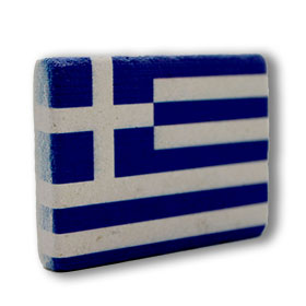 Decorative Greek Magnet featuring the Greek Flag