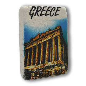 Decorative Greek Magnet featuring the Parthenon