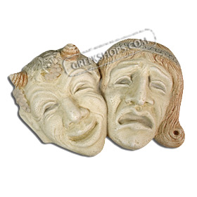 "Comedy Tragedy Mask (9.4"") (Clearance 40% Off)"