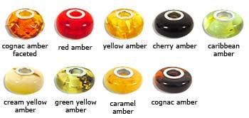 Pandora - Style Amber Beads