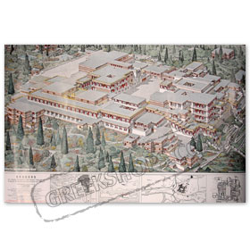 Knossos Minos Palace Map