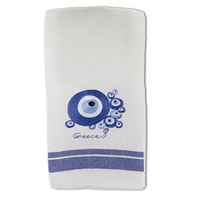 Decorative Embroidered Kitchen Towel Evil Eye 50x60cm