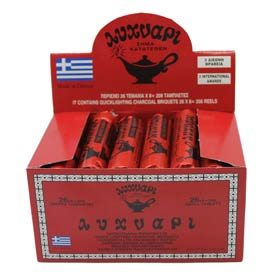 Lihnari Greek Quick Lighting Charcoal Tablets for Incense Burners, 26 Small Roll