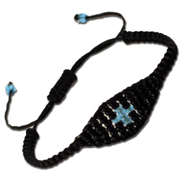 Handmade Adjustable Beaded Greek Orthodox Cross Bracelet